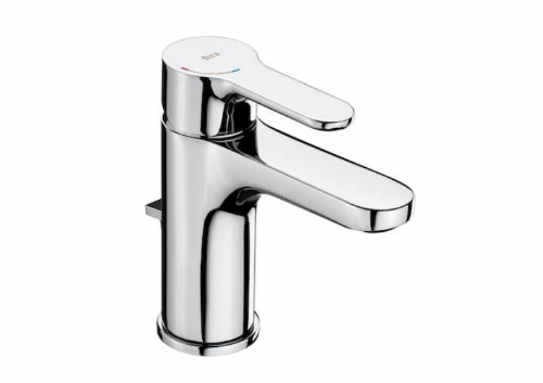 Roca L20 Basin Mixer Tap With Pop-Up Waste - Chrome